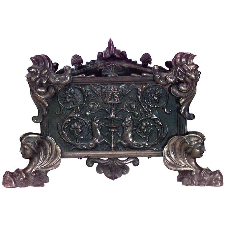 Italian Renaissance Style Bronze Triangular-Shaped Jardinière