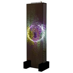 Floor Lamp Contemporary Style Sculptural Mirror Purple