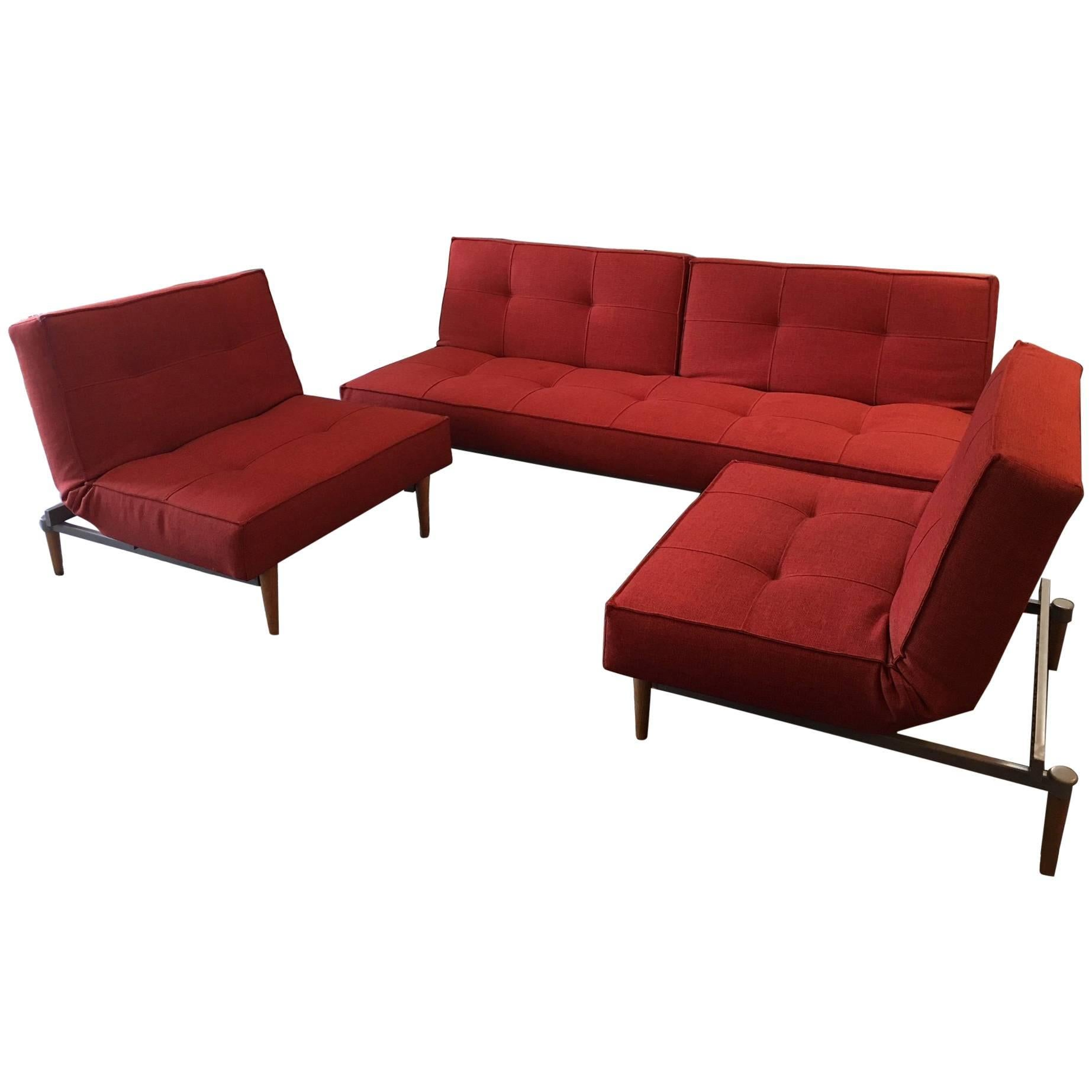 Ambiente Modern Furniture Convertible Sofa And Chairs For Sale