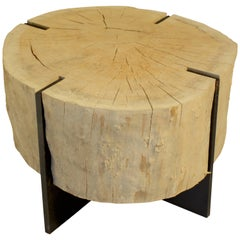 Oak Coffee Table on Iron Mount