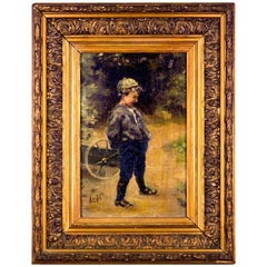 Painting in Stucco and Gilded Wood, France, circa 1850, Impressionist