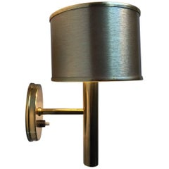 Vintage Danish Brass Wall Light, Sconce by Svend Mejlstrøm, 1970s