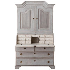 19th Century Swedish Gustavian Secretary with Library