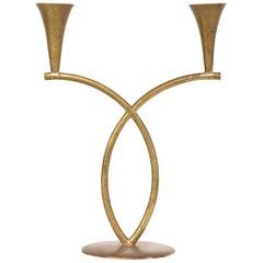 Richard Rohac Brass Candleholder, Austria, 1950s