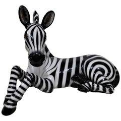 Large Ceramic Mid-Century Modern Italian Zebra
