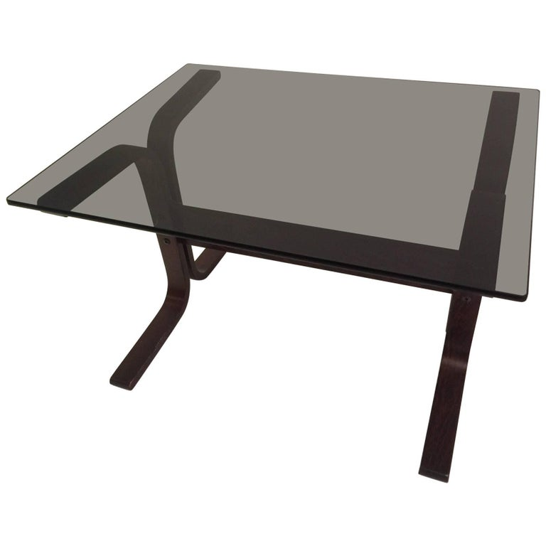 Westnofa Siesta Side Table with Smoked Glass