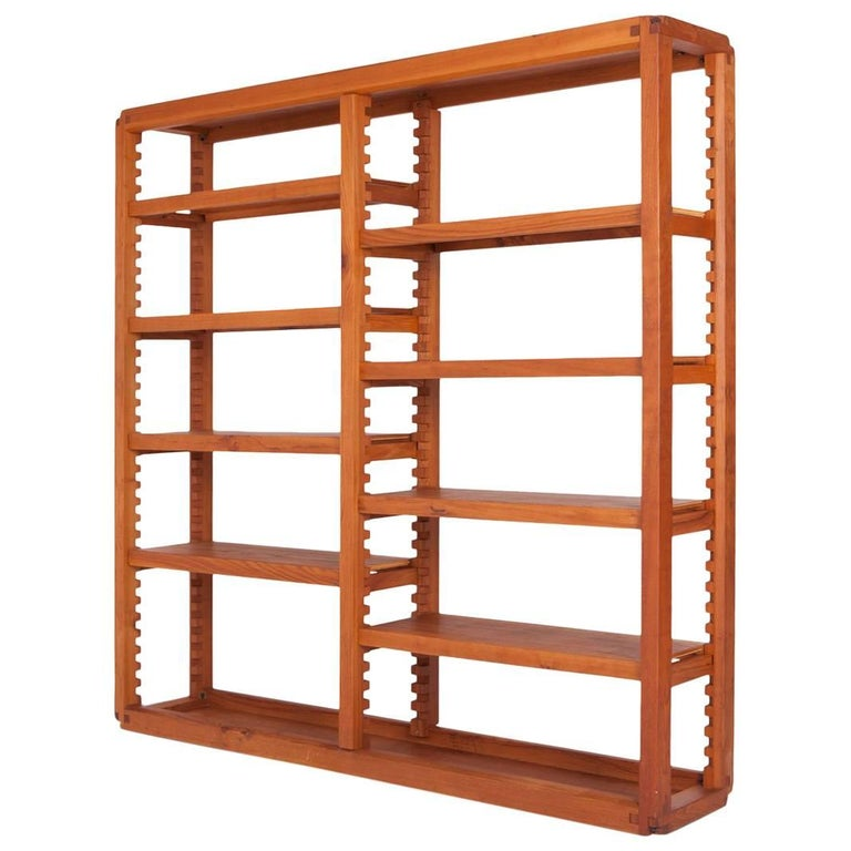 Adjustable Bibliothèque in French Elm by Pierre Chapo, 1960s