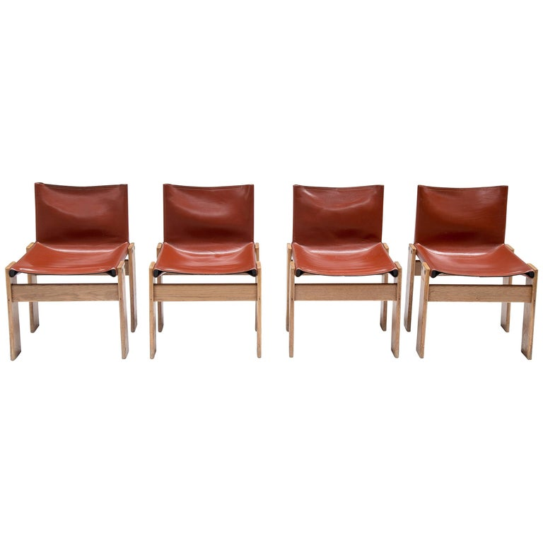 Monk Chairs by Afra & Tobia Scarpa for Molteni
