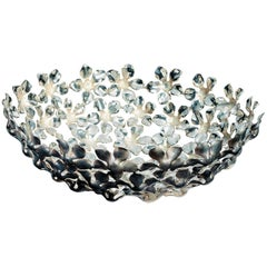 Kachnar Silvered Brass Flower Centrepiece by Mann Singh for Driade