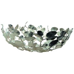 Kachnar Silvered Brass Leaf Centrepiece by Mann Singh for Driade