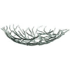 Kachnar Silvered Brass Branch Centrepiece by Mann Singh for Driade