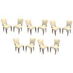 Set of Ten Art Deco Chairs in the Style of Jules Leleu