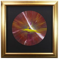 Damien Hirst DISC Spin Unique Acrylic on Card Signed Blind Stamped Mounted, 2009
