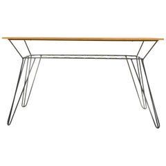 Vintage Coffee Table with Wire Sockle, Czechoslovakia, 1970s