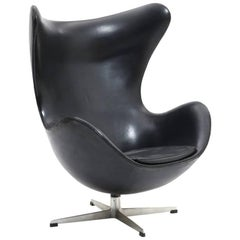 "Arne Jacobson ""The Egg Chair"" Leather produced  1964"