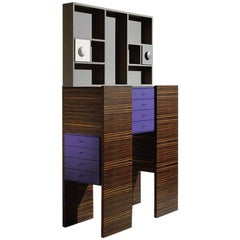 Ettore Sottsass, Cabinet, Out Production, Oak Design Edition, Italy
