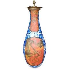 19th Century Large Japanese Porcelain Lamp Vase