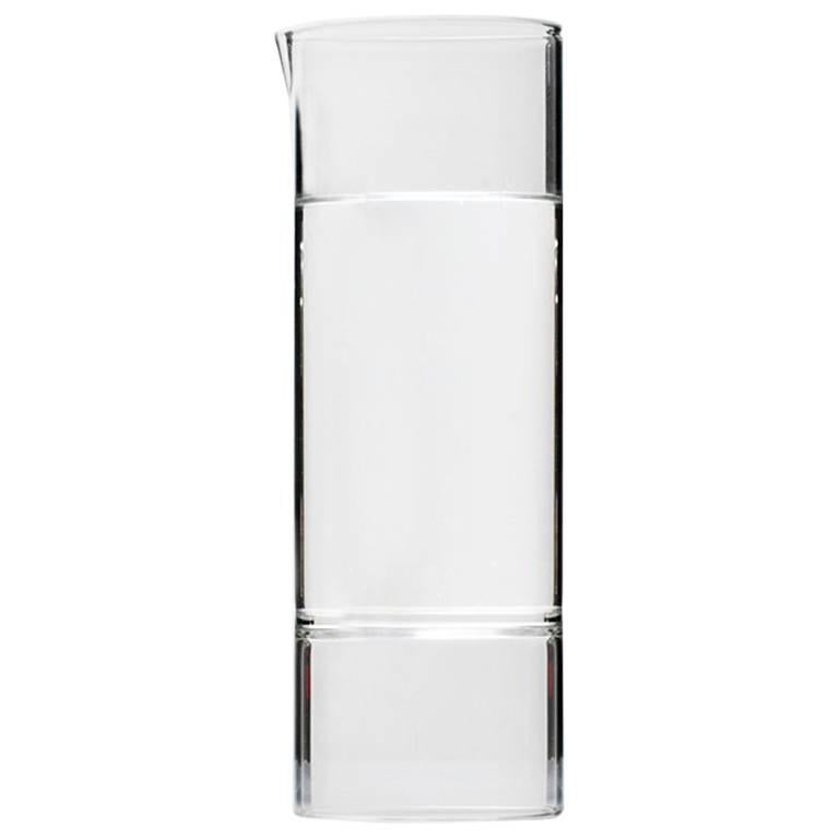 Contemporary Handcrafted Czech Clear Glass Modern Revolution Carafe IN STOCK
