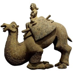 Rare Large Crouching Bactrian Camel