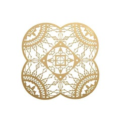 Italic Lace Brass Petal Coaster 'Set of Four' by Galante & Lancman for Driade
