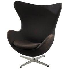 Arne Jacobsen Black Egg Armchair