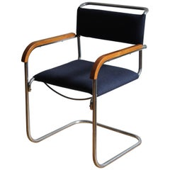 FN 74 Modernist Cantilever Chair by H.J.Hagemann for Mucke-Melder