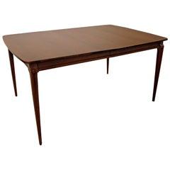 Mid-Century Modern Walnut Extendable Dining Table