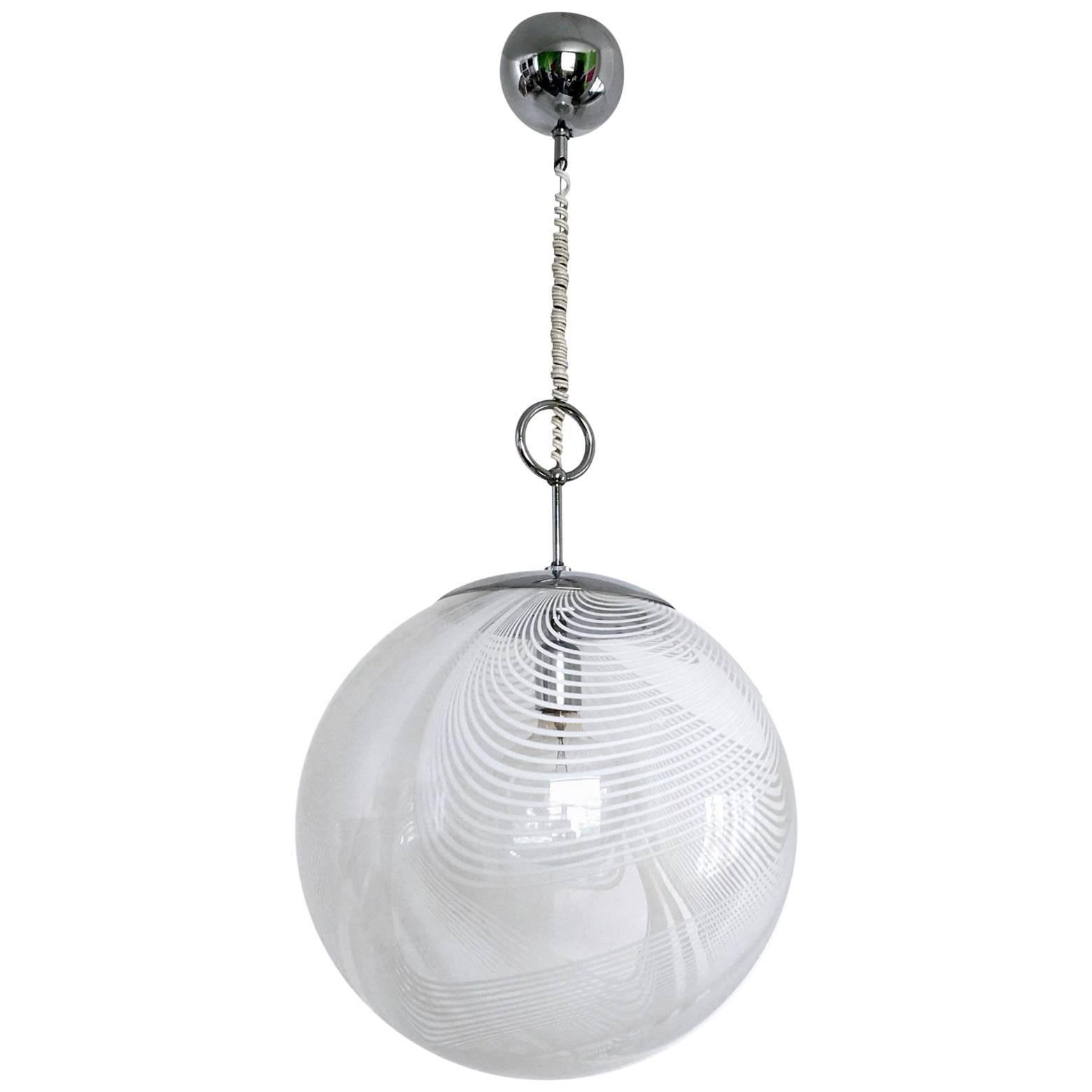Spheric Murano Glass Pendant Lamp By Lino Tagliapietra For La Murrina, 1970s