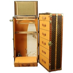 Louis Vuitton Wardrobe Monogram Trunk Complete, 1930s