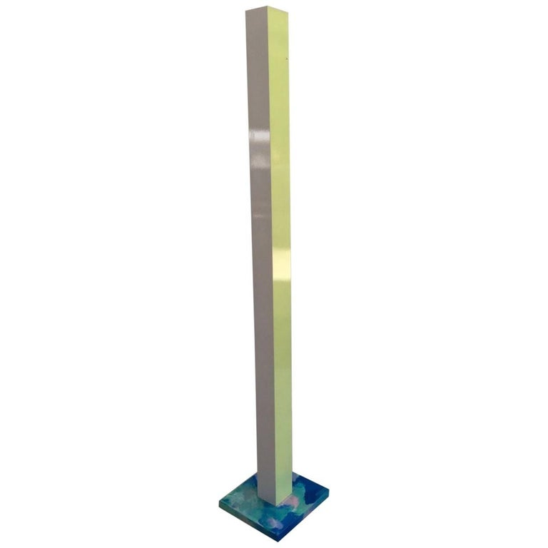 Hand painted lime yellow blue and green floor lamp by superpoly for hand painted lime yellow blue and green floor lamp by superpoly for sale aloadofball Images