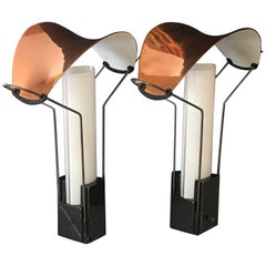 Pair of Palio Lamps by Perry King and Santiago Miranda for Arteluce