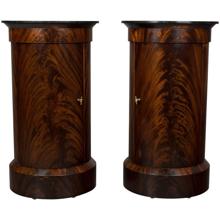 Pair of 19th Century Louis Philippe Style Pedestal Cabinets