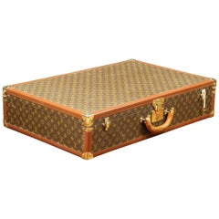 Louis Vuitton Stencil Canvas Suitcase, 1960s