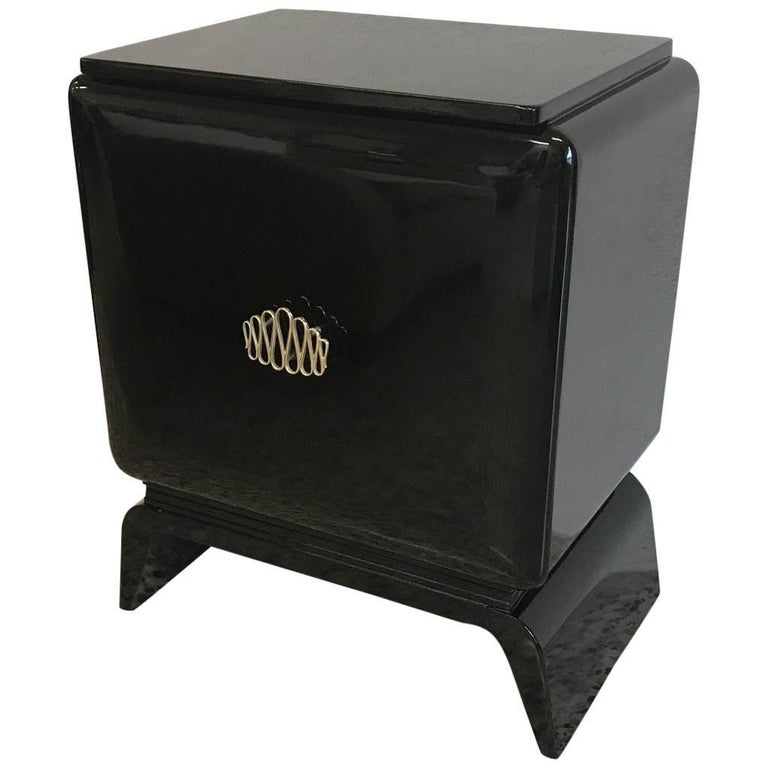 20th Century Black Art Deco Cabinet