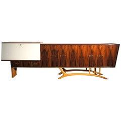 Giuseppe Scapinelli Modern Brazilian Sideboard in Rosewood