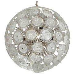 Murano Disc Sputnik with Clear Bubble Glass