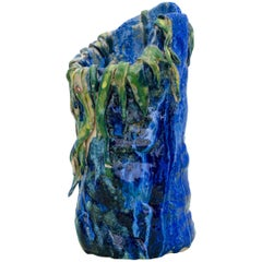 Contemporary Handmade Blue and Green Ceramic Vase by Superpoly
