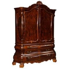 Dutch Sideboard in Walnut, Mahogany, Burl Wood from 20th Century