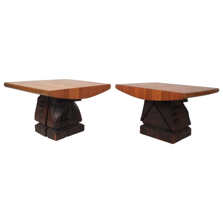 Pair of Midcentury TOTEM End Tables by Witco