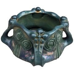 Amphora Elite, Art Nouveau Planter in Enameled Stoneware, circa 1900