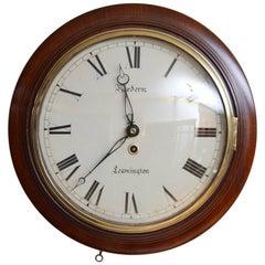 Fine Early Victorian Wall Clock Hordern Leamington