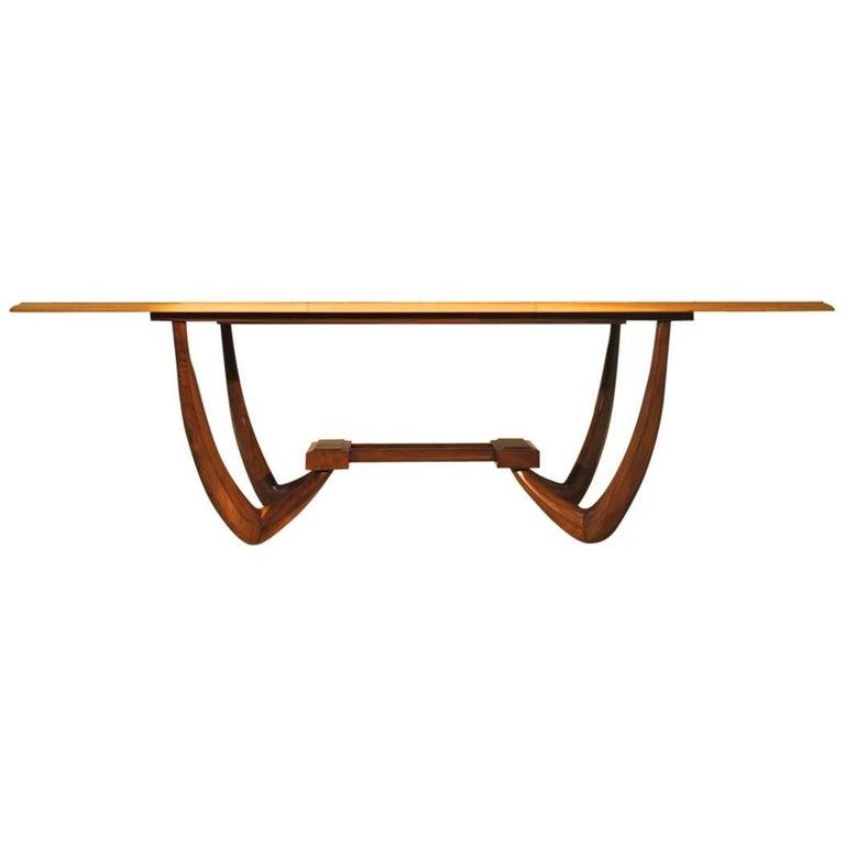 "Giuseppe Scapinelli, Brazilian Mid-Century Modern ""J"" Dining Table"
