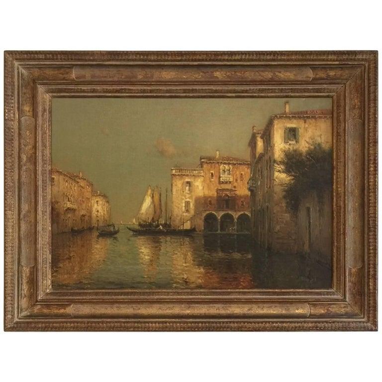 Painting of Venice by Antoine Bouvard, circa 1930s