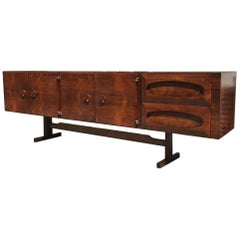 "Modern Brazilian Sideboard Made of Rosewood ""Novo Rumo"""