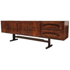 Novo Rumo,Brazilian Modern Sideboard Made of Rosewood with Very Stylish Design
