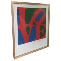 20th Century Pop Art Signed and Numbered Robert Indiana, LOVE, 1996