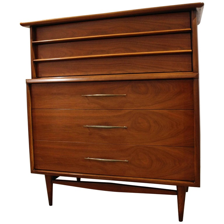 Mid-Century Modern Kent Coffey the Foreteller Walnut Tall Chest