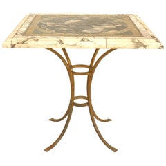 Italian Neoclassic Modern Marble Top Center Table