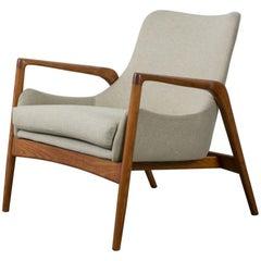 Ib Kofod-Larsen Lounge Chair, Denmark, 1950s
