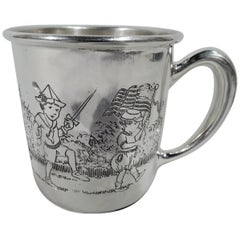 Antique American Edwardian Sterling Silver Children's Parade Baby Cup